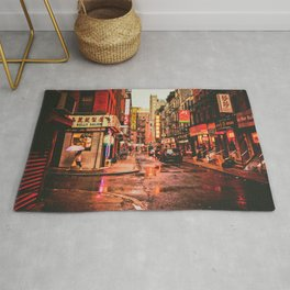 New York City Rain in Chinatown Rug