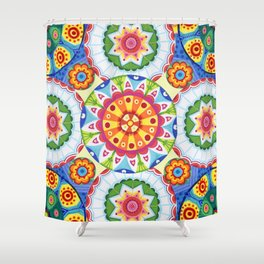 pop flowers Shower Curtain