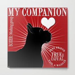 BOXER – My Companion - Red  Metal Print