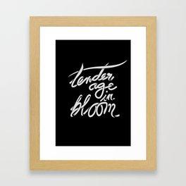 tender age in bloom Framed Art Print