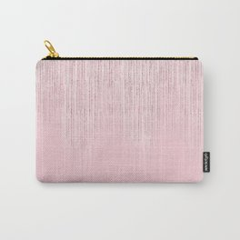 Glamorous blush pink girly glitter Carry-All Pouch