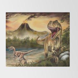 Predator Dinosaurs Throw Blanket