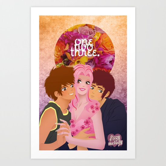 onetwothree. Art Print