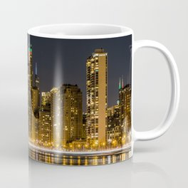 Chicago North Shore Skyline Night Coffee Mug