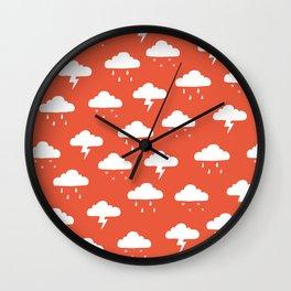 Precipitation Red Wall Clock