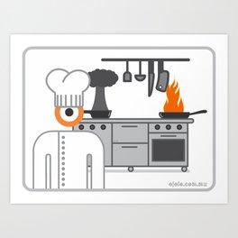 cooked glance Art Print