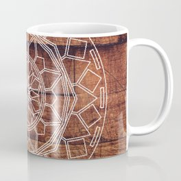 Rustic Wooden Mandala Coffee Mug