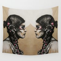 native Wall Tapestries featuring Native by Mo Baretta