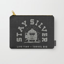 """Stay Silver"" Retro Type (1 color) Carry-All Pouch"
