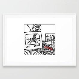 Satellite of Love. Framed Art Print