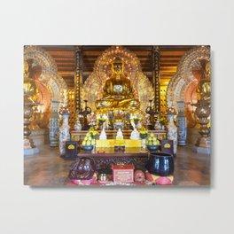 The Buddhas of The Three Times Hall (Tam Thế Phật Điện) Metal Print