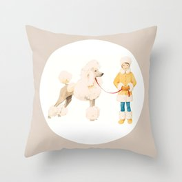 Poodle Power Dressing Throw Pillow