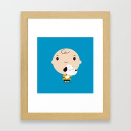 Snoopy chibi Framed Art Print