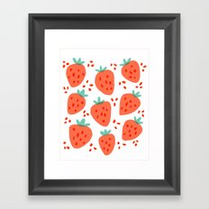 Strawberry Patch Framed Art Print
