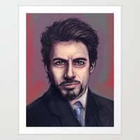 tony stark Art Prints featuring Tony Stark by pandatails