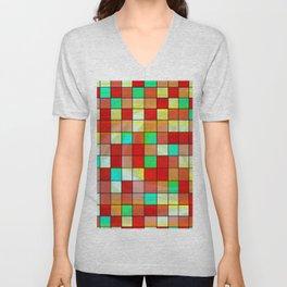 checkered II Unisex V-Neck