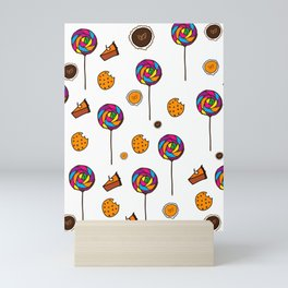 Autumn Desserts Pattern Mini Art Print
