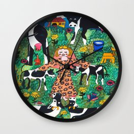 PRINCES WITH COWS Wall Clock