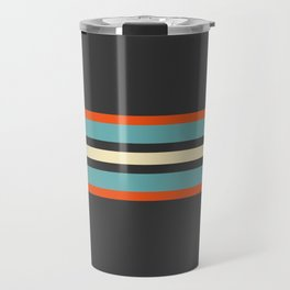 Classic Retro Stripes Amikiri Travel Mug