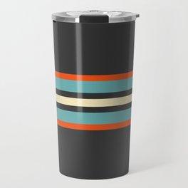 Classic Retro Stripes Amikiri Travel Mug