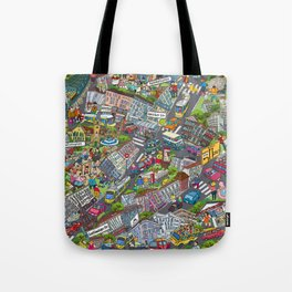 Illustrated map of Berlin-Prenzlauer Berg Tote Bag