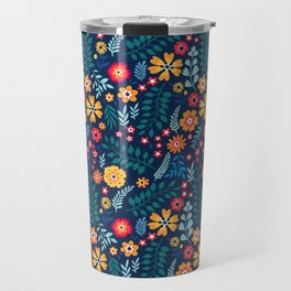 """Cute Floral pattern of small flowers. """"Ditsy print"""". Travel Mug"""