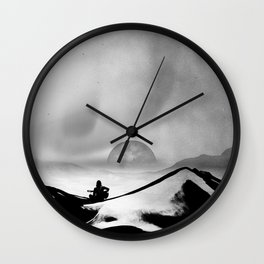 Black Space Song Wall Clock