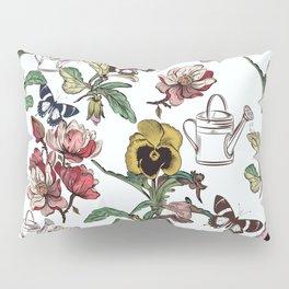 Violets garden. Vintage nostalgia Pillow Sham