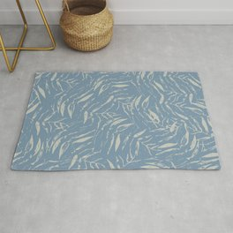 Sketched & Scattered Leaves- Cloudy Sky Rug