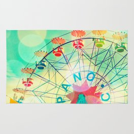 Panoramic carnival ferris wheel Rug