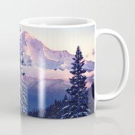 Glorious Beginning sunrise on Mount Shasta Coffee Mug