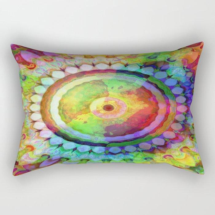 Colorful Beauty Kaleidoscope Rectangular Pillow