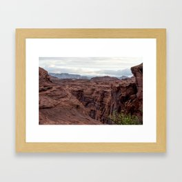 Walls of the Canyon Framed Art Print