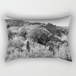 Boyce Thompson Arboretum Black and White No.8 Rectangular Pillow