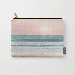 Pink pastel ocean #sunset Carry-All Pouch