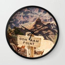 Viewpoint Grand Canyon National Park Arizona | Photo Art Print | Travel Photography Wall Clock