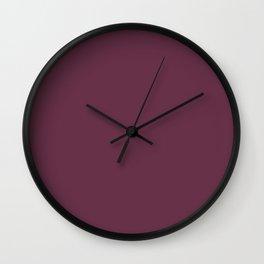 Wine dregs - solid color Wall Clock