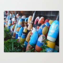 Stand Up Buoys And Be Counted Canvas Print