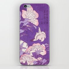 Japanese FLowers Purple Pink iPhone Skin