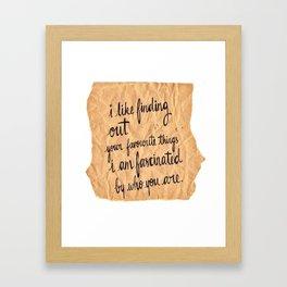Paper Fascination Framed Art Print