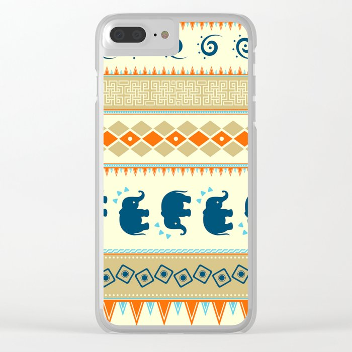 Ethnic Pattern Clear iPhone Case