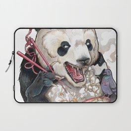 Panda Eating Ramen In A Tin Foil hat Laptop Sleeve