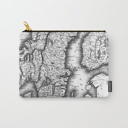 Vintage Map of Norway and Sweden (1831) BW Carry-All Pouch