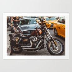 East Village Motorcycle Art Print