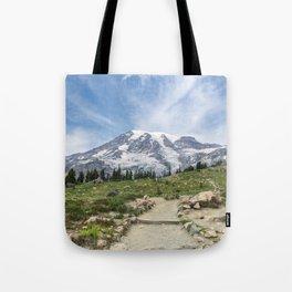 Trail Up Rainier Color Tote Bag