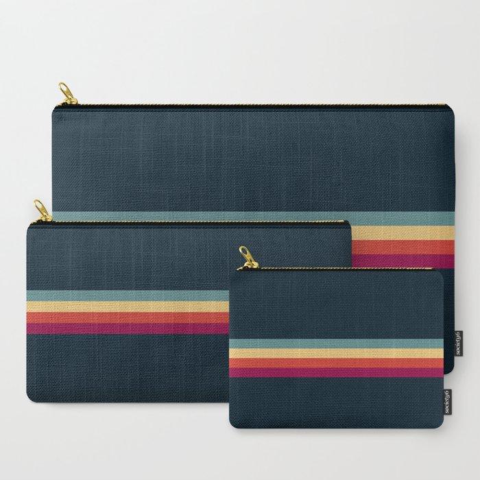 Retro Stripes Thunderbird Carry-All Pouch