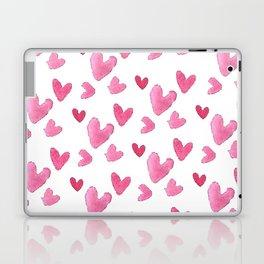 Be my valentine blush pink vector romantic heart pattern Laptop & iPad Skin