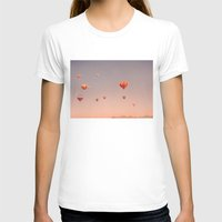 hot air balloons T-shirts featuring vintage hot air balloons in rio by Bianca Green