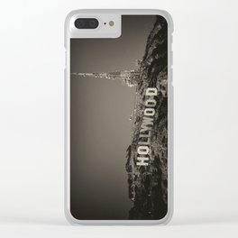 Vintage Hollywood sign Clear iPhone Case