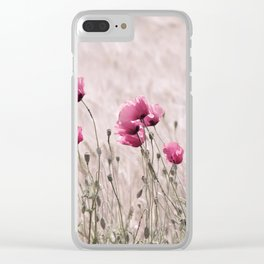 Poppy Pastell Pink Clear iPhone Case